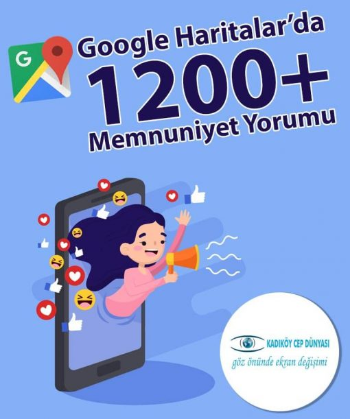Ekran Değişiminde Google'da 1200+ yorum