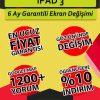 ipad 3 ekran değişimi fiyatı