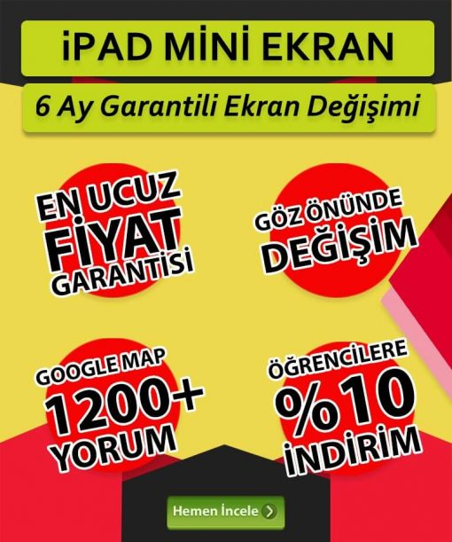 ipad mini ekran değişimi fiyatı