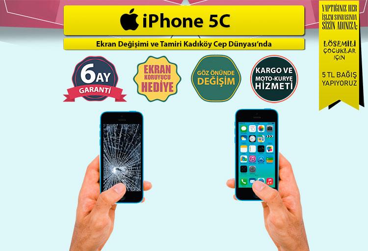 iphone 5c ekran değişimi fiyatı ve ekran tamiri kadıköy cep dünyası