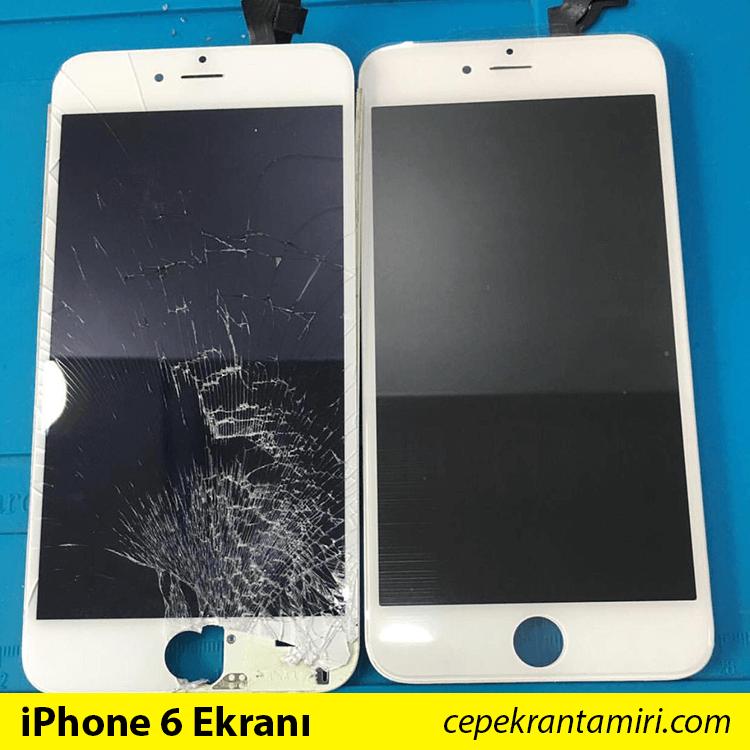 iPhone 6 Kırık Ekran vs. iPhone 6 Değişim Ekranı