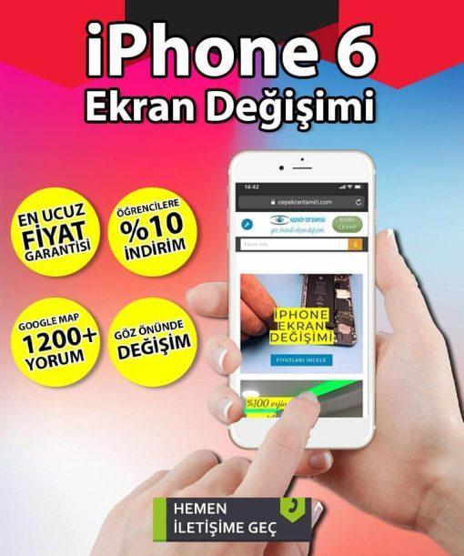 iPhone 6 Ekran Değişimi Fiyatı ve ekran tamiri Kadıköy'de