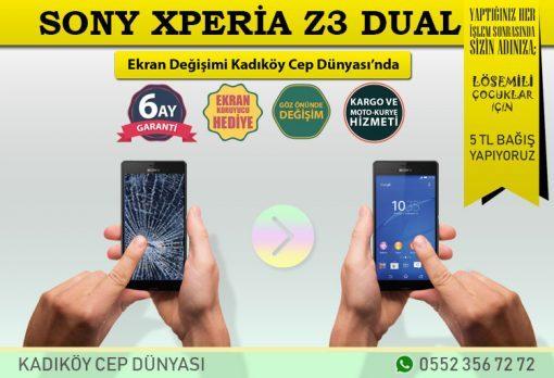 Sony Xperia Z3 Dual Ekran Değişimi