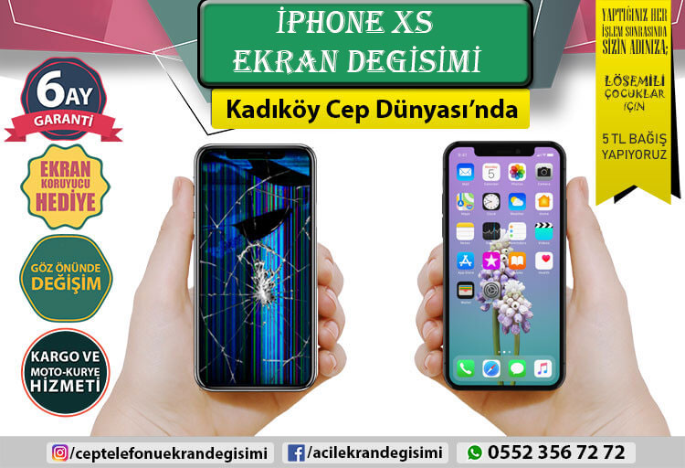 İphone XS Ekran Değişimi - 2750 TL