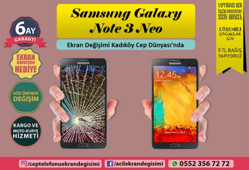 Note 3 Neo Ekran Değişimi - 549 TL