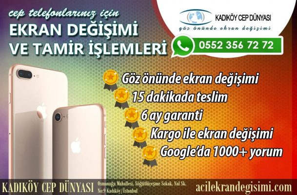 General Mobile GM6 Ekran Değişimi Kadıköy Cep Dünyası
